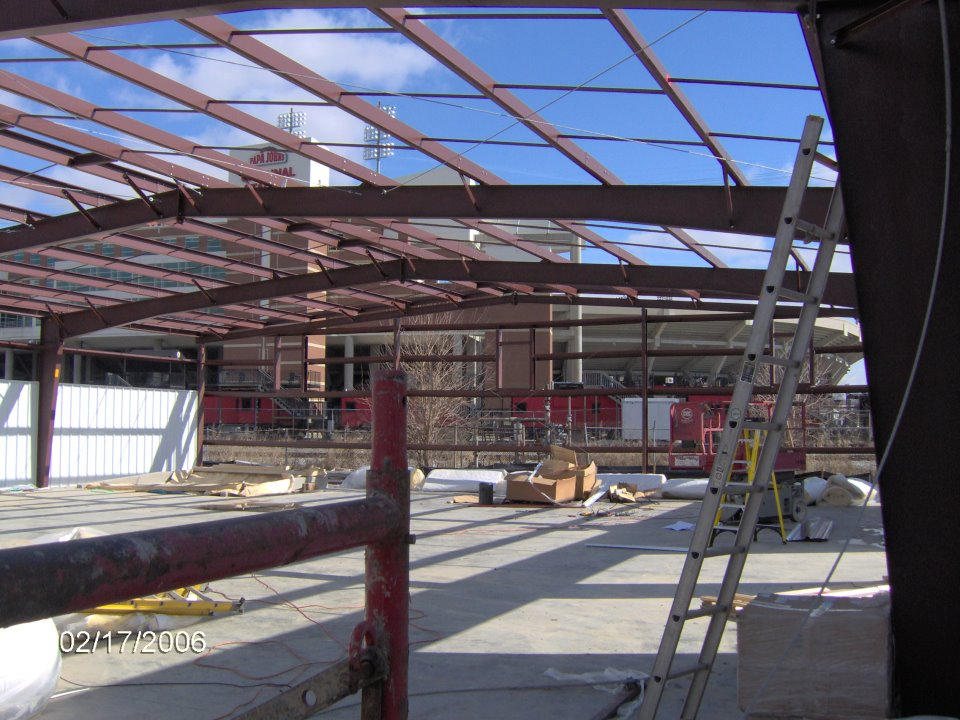 ky-louisville-recreational-red-iron-bridging-for-metal-standing-seam-wright-building-systems